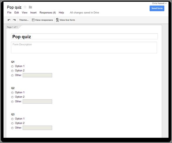 Google form set up