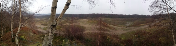 Panorama of Woodside Quarry, taken from the eastern side