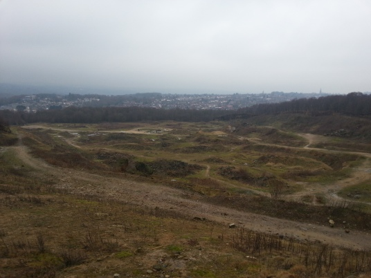 Looking south over Woodside Quarry