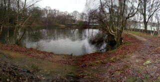Upper pond from the Clayton Ponds south of the quarry